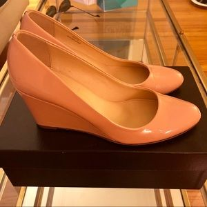 JCREW Martina Patent Wedges - Size 8